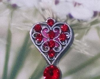 Red Crystal Hart Bindi