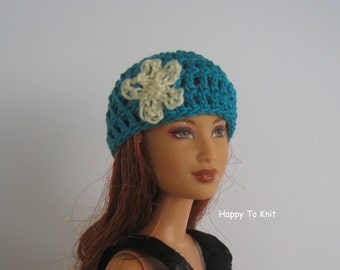 Beanie hat for fashion dolls - several colors. Beanie hats to fit barbie.