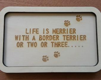 Border Terrier Key Tray