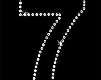 Rhinestone Transfer - Hot Fix Motif - Number 7