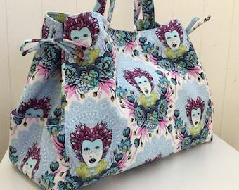 Handbag, Large Tote, Diaper, Overnight Bag, blue, purple, Made in Australia, Bags and Purses, Crossbody, Boho