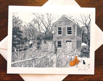 Autumn Scarecrow Note Cards