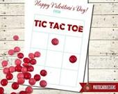 Tic Tac Toe Valentine | Valentine Class Tag | Printable PDF | Digital | School | Class | Tic Tac Toe | Valentines Card | INSTANT DOWNLOAD