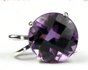 Summer Sale, 30% Off, SP088, 12mm, 8 ct Amethyst, 925 Sterling Silver Pendant