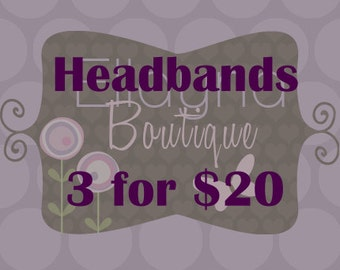 3 for 20, Non-Slip Headbands