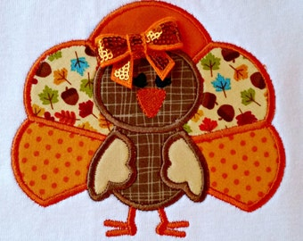 Personalized Applique Thanksgiving Shirt, Turkey Shirt, Thanksgiving Onesie, Turkey Onesie