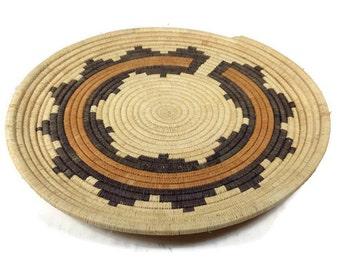 Vintage Navajo Wedding Basket - Native American Weaved Basket