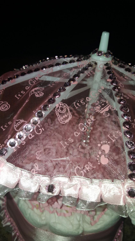 Pink Rhinestone Umbrella Diaper Cake Feliciaseventdesign Best Rectangular Patio Umbrella