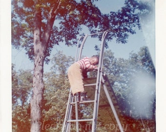Vintage color Photo ~ the playground slide