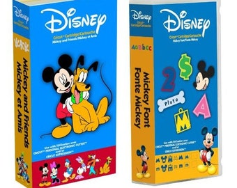 Brand New 2 CRICUT Cartridges Disney Mickey and Friends & Mickey Font includes Minnie Mouse Donald Duck Mickey Mouse