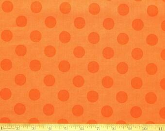 Fabric Riley Blake Orange on Orange Medium Dots RB063