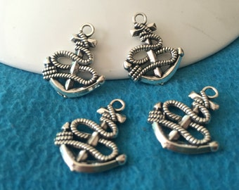20pc antique sliver anchor charms pendant  24mmx20mm