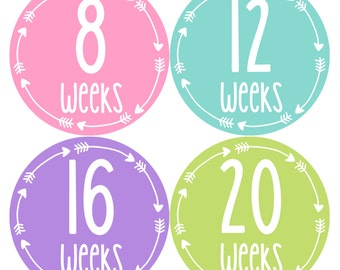 Pregnancy Milestone Stickers - Monthly Pregnancy Stickers - Baby Belly Stickers - Maternity Photo Props – Pregnancy Growth Sticker Props 951