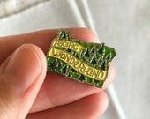 Pacific Wonderland Enamel Lapel Pin // Oregon State Pin Badge