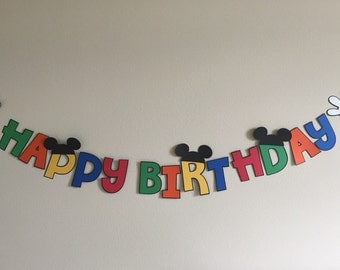 Disney Mickey Birthday Banner
