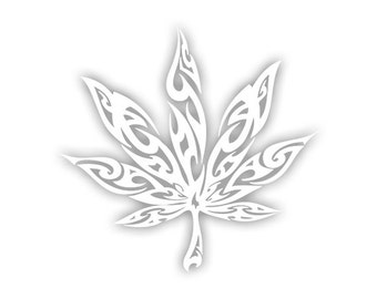 Weed Tribal decal