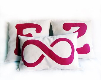 Free Fast Shipping/Infinity Funny Couple Initial& Infinity Pillow Set/Couple Canvas Pillow Cover Set/Housewarming Gift/Gift for Friend