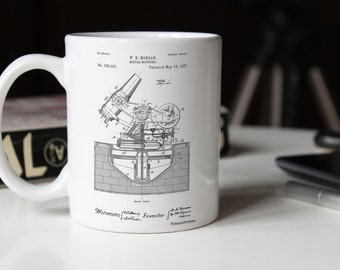 Military Mortar Launcher Patent Mug, Vintage Army, Mugillery, Gun Enthusiast, Man Cave, Army Gift, Military Gift, PP0445