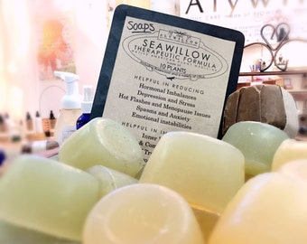 SEAWILLOW Therapeutic Plant Formula in soaps & moisturizers || 100% Vegan || soothing and calming || hormonal balancing