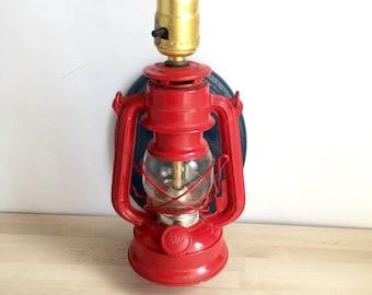 Red Lantern Sconce Lamp