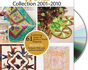 Quilter's World magazine from 2001-2010 DVD Set,