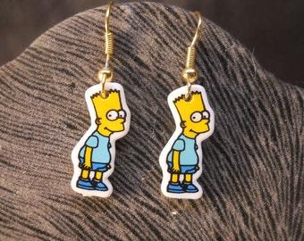 Simpsons Dangle Earrings Gold Earwires