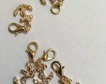 Cute anchor gold charms 9 pieces