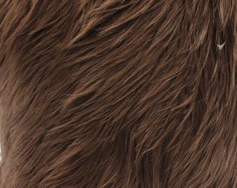 """Faux Fur Long Pile Shaggy BROWN / 60"""" Wide / Sold by the yard"""
