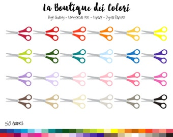 50 Rainbow Scissors Clip art, Digital illustrations PNG, school arts and crafts stationary Clipart graphics, Planner Stickers Commercial Use