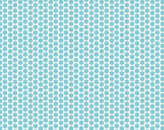 One Yard Honeycomb Dots - Reversed Dot in Aqua Blue - Cotton Quilt Fabric - C800-20 - RBD Designers for Riley Blake Designs (W3313)