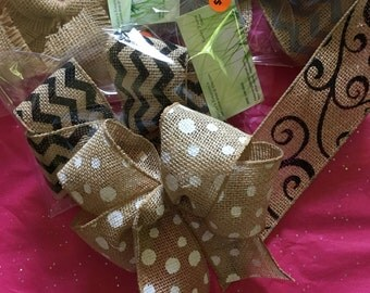 Burlap Bows Variety also solids