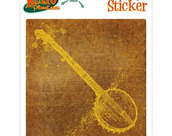 Banjo Musical Instrument Vinyl Sticker - #63789