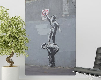 Graffiti Is A Crime Banksy Wall Decal - #71127