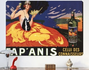 Wine French Flapper Fap Anis Wall Decal - #60798