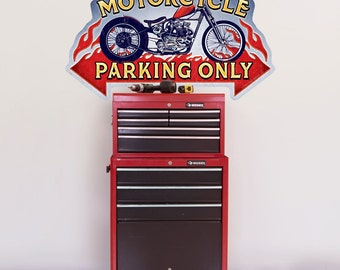 Motorcycle Parking Only Wall Decal - #52297