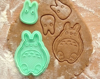 Totoro cookie cutter. My Neighbor Totoro and Chibi Totoro cookie stamps set of 2