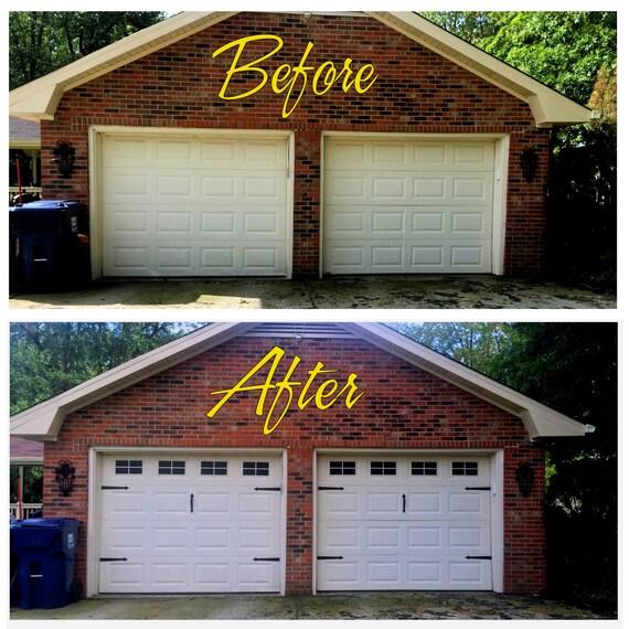 Craftsman Style Det Garage Garage: Craftsman Style Faux Garage Door Windows Vinyl Decals No