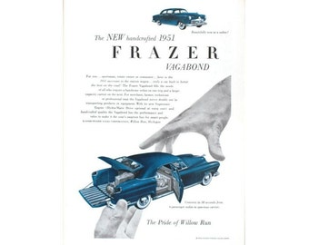 Vintage magazine ad for a 1951 Frazer  - 8