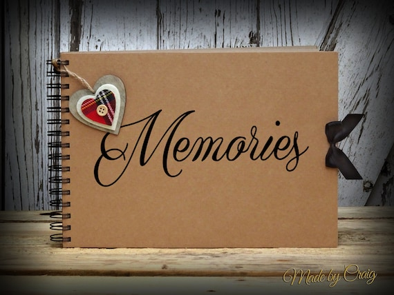 Memories Scrapbook Photo Album Vintage Style Scrap Book