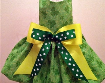 Pretty Shamrock St. Patrick's Day Dog Dress
