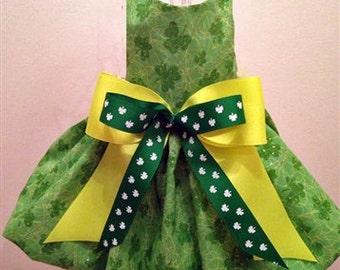 Pretty Shamrock St. Patrick's Day Dog Dress