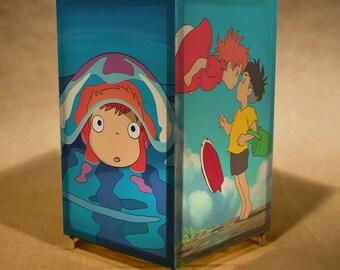 Ponyo nightlight wtih LED / lamp- featuring Ponyo from the movie Ponyo made by Studio Ghibli (fan art)