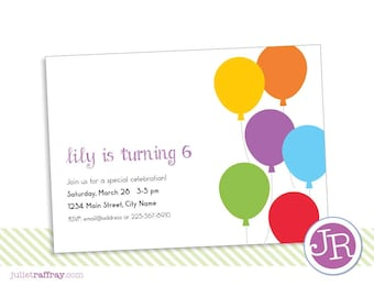 I Love Balloons Invitation (benefiting St. Jude Children's Research Hospital)