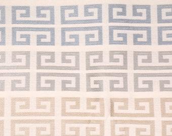 4 yards - Geometric greek key stripes remnant fabric