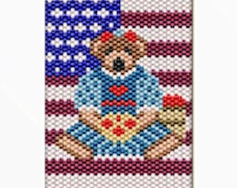 Fourth of July bear Bead banner Pattern