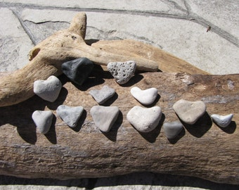 Sale // 12 HEART Shaped BEACH ROCKS / Lake Erie