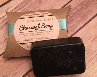 Activated Charcoal Face Soap. Tea Tree and Charcoal Soap.