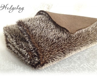 Steiff Schulte MOHAIR Fabric Hedgehog Fur, medium dense, straight 9 mm pile 1/16 metre or more teddy bear making supplies plush