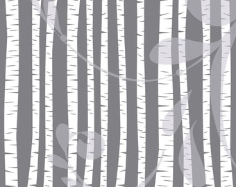 """Birch and Aspen Trees Clipart 