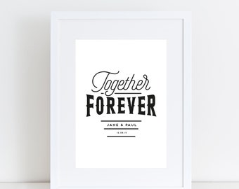 Personalised 'Together Forever' Print